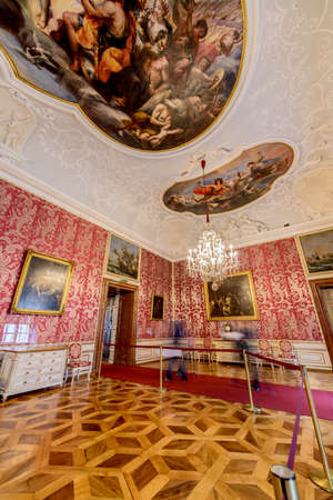 residenz: SALZBURG, AUSTRIA - JULY 31, 2014: The Salzburg Residenz palace is located at Domplatz and Residenzplatz and was home for centuries of the Archbishops of Salzburg. Editorial