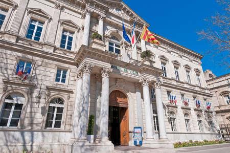 cityhall: Cityhall Building entrance located at Avignon, France