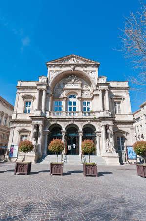 avignon: Entrance of the Municipal Theatre of Avignon, France