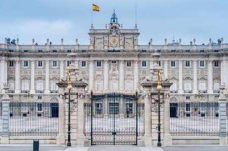 palacio: The Royal Palace of Madrid (Palacio Real de Madrid), official residence of the Spanish Royal Family at the city of Madrid, Spain.
