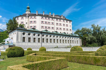 Ambras Castle (Schloss Ambras) a Renaissance sixteenth century castle and palace located in the hills above Innsbruck, Austria.