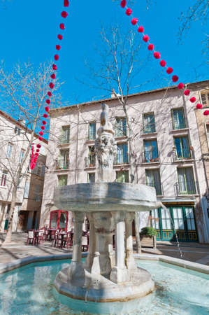 Neuf Jets Fountain at Ceret, southern France