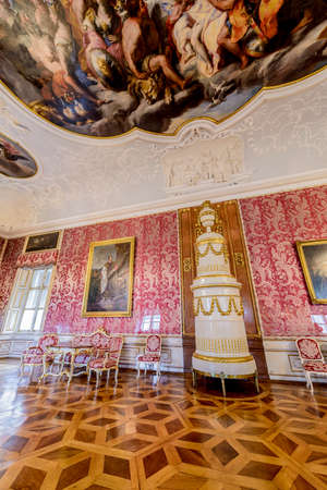 SALZBURG, AUSTRIA - JULY 31, 2014: The Salzburg Residenz palace is located at Domplatz and Residenzplatz and was home for centuries of the Archbishops of Salzburg. Editoriali