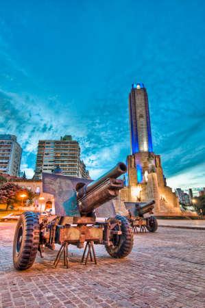 Sunset at Monumento a la Bandera located at Rosario city. 写真素材