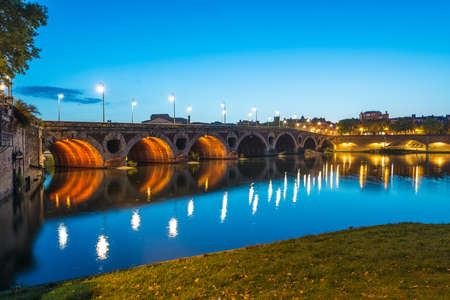 La Garonne passing through Toulouse, Haute-Garonne, Midi Pyrenees, is a mainly French river, its spring in Spain and flowing over 647 km before emptying into the Atlantic.