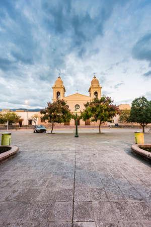 Del Rosario church in Cafayate city in Salta province, northern Argentina.
