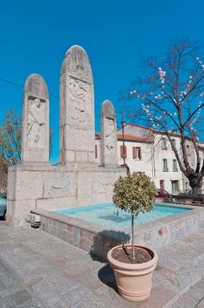 Arrossage Canal Monument at Ceret, southern France Stock Photo