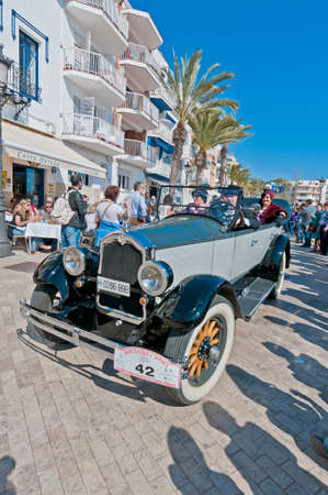 SITGES, SPAIN - MARCH 11: Emili Ripolles drives a 1924 Ferrer BUICK on the second phase of the 54th Rally of Ancient Cars Barcelona-Sitges on March 11, 2012 in Sitges, Spain.
