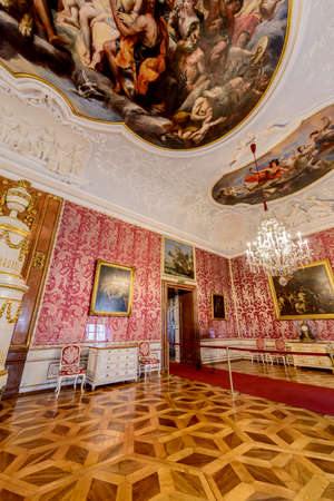 SALZBURG, AUSTRIA - JULY 31, 2014: The Salzburg Residenz palace is located at Domplatz and Residenzplatz and was home for centuries of the Archbishops of Salzburg. Éditoriale
