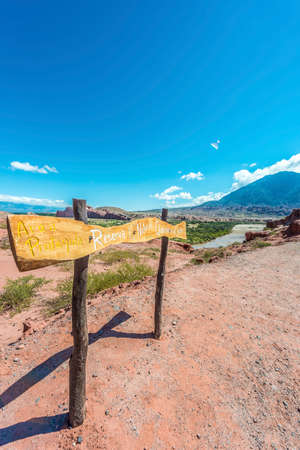 Quebrada de las Conchas along Route 68 near Cafayate city in Salta Province, northern Argentina