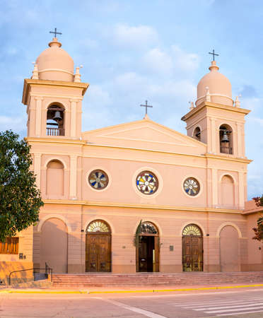 Del Rosario church in Cafayate city in Salta province, northern Argentina.