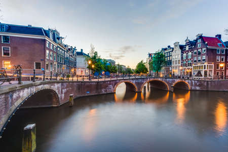 Keizersgracht canal, one of the tree main and most transitated canals in Amsterdam, Netherlands.