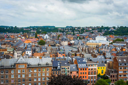 Namur skyline, in the Wallonia Region, southern Belgium, as seen from the Citadel.