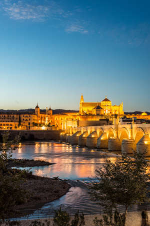 Guadalquivir river as it passes through the city of Cordoba in the province of Andalusia, Spain.