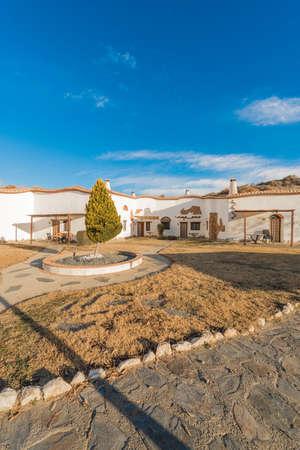 GRANADA, SPAIN - DECEMBER 1, 2015: Tourist Accommodation Hammam Abuelo Jose Cave near Purullena, Province of Granada, Andalusia, Spain Editorial