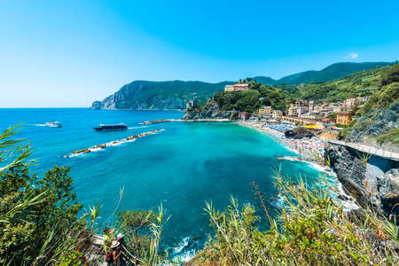 MONTEROSSO, IT - JUNE 26, 2016: Monterosso village within Cinque Terre in Liguria Region, Northern Italy. Фото со стока - 128320929
