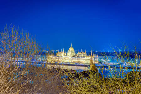 Hungarian Parliament Building (Orszaghaz) a notable landmark of Hungary and a popular tourist destination of Budapest. Editorial