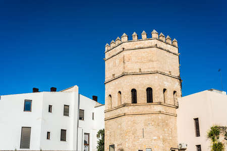 The Torre de la Plata in Seville is an octagonal tower from the 13th century that formed part of the city wall until the Torre del Oro.