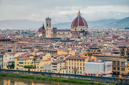 The Basilica di Santa Maria del Fiore (Basilica of Saint Mary of the Flower), the main church of Florence, Italy