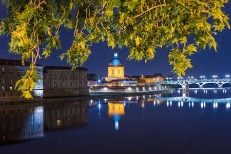 Hopital de La Grave, du nom de la rive sablonneuse de la Garonne où il a été construit à Toulouse, Haute-Garonne, Midi Pyrénées, France. Banque d'images