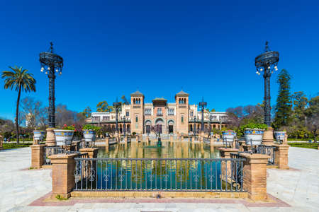 The Museum of Arts and Popular Customs of the city of Seville, Spain, is located in the Maria Luisa Park.
