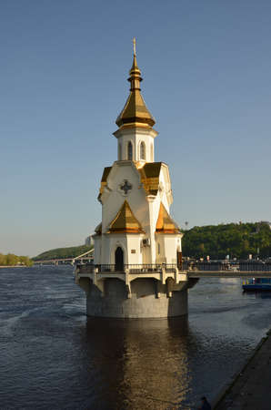 denominational: Church on the water Stock Photo