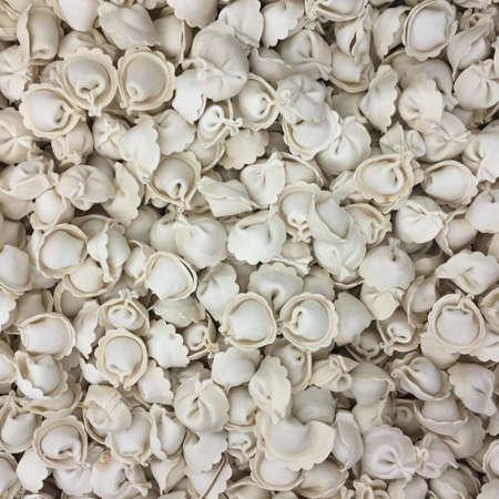 semimanufactures: Frozen dumplings background Stock Photo