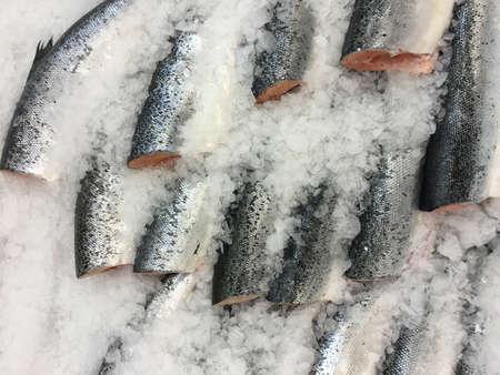 fish on ice: Fish on ice at market