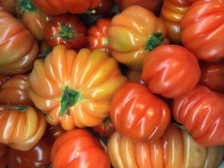 ba: Premium tomatoes as background. Kur ba dur Stock Photo