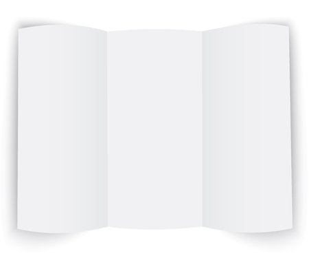 article marketing: The template for the presentation booklet on white background