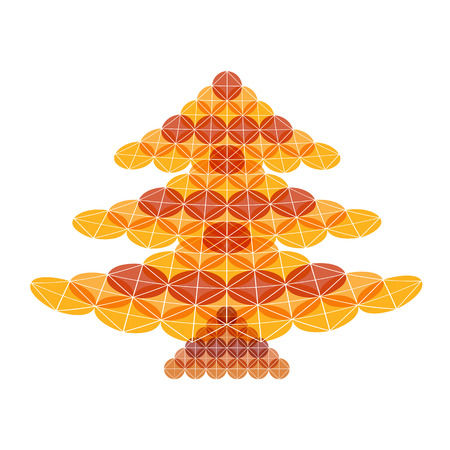 broadsheet: Abstract Christmas tree on a white background