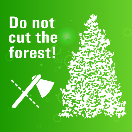Poster banning cut wood and pine for Christmas