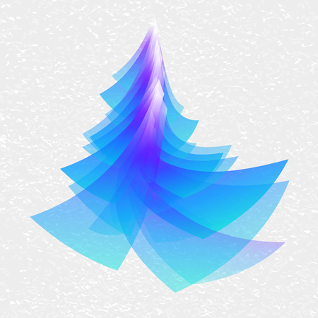 exhilaration: Blue Christmas tree to celebrate the new year