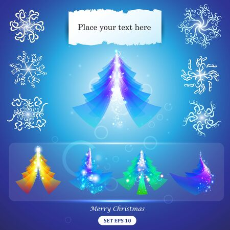 rejoice: New Years and Christmas tree for congratulations