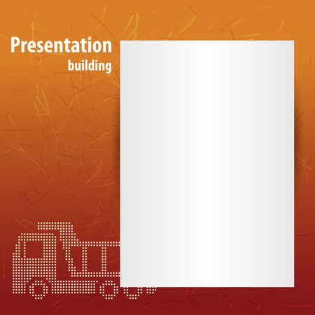 industrial safety: Building a presentation with the truck and graphic Illustration