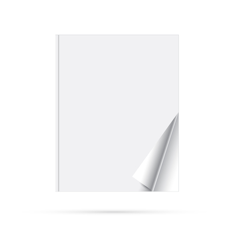 diminishing perspective: Blank page of magazine