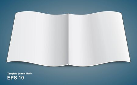blank page: Blank magazine double - page spread and graphic Illustration