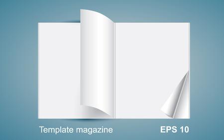 magazine template: Template magazine, illustration cover