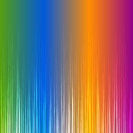 viewable: Rainbow gradient equalizer, wave sound Illustration