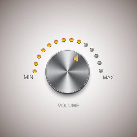 Chrome metal volume and knob