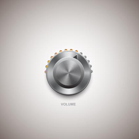 Lautstärkeregler und Regler Vektorgrafik