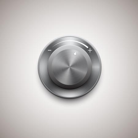 knob: metal control and knob