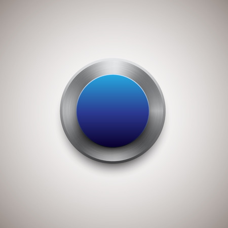 blue button: metal and blue button