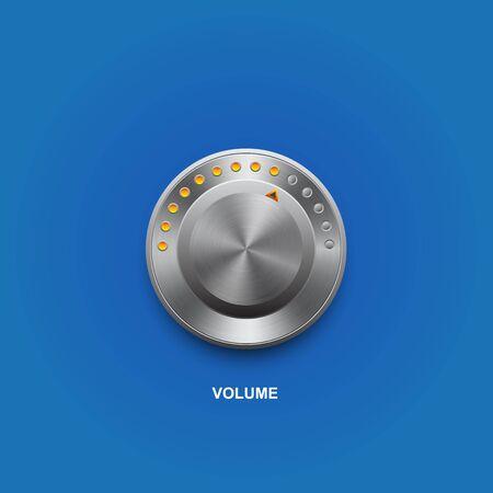 hi fi: volume button Illustration