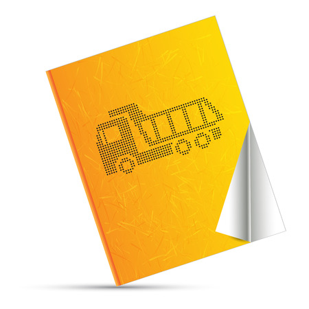 grader: industrial yellow and book Illustration