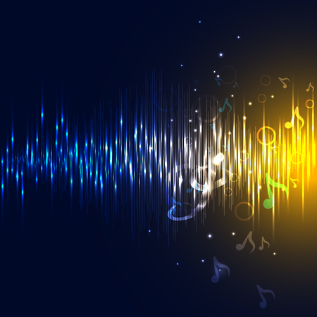 vibrations: equalizer and sound wave