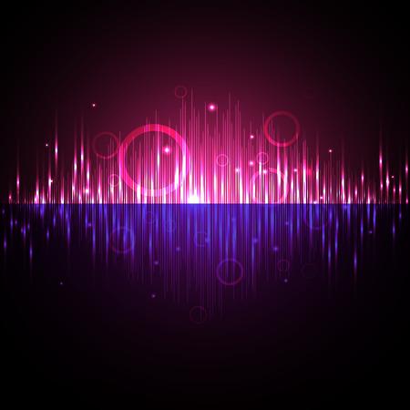 red wave sound equalizer Vektoros illusztráció