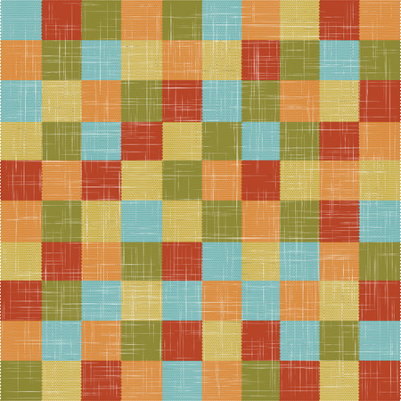 folksy: Linen quilt and Flax texture