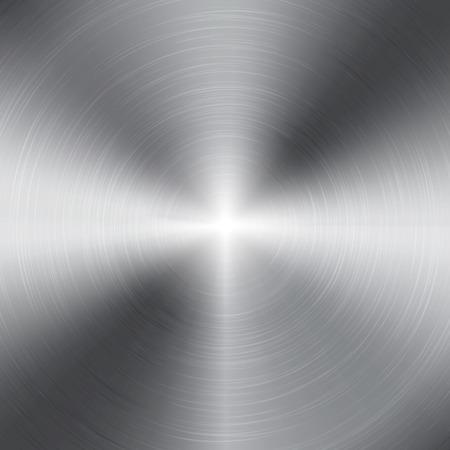metales: aluminio y metal textura Vectores