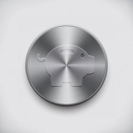 economise: metal sign piggy bank